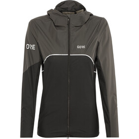 GORE WEAR R7 Partial Gore-Tex Infinium Hooded Jacket Damen black/terra grey